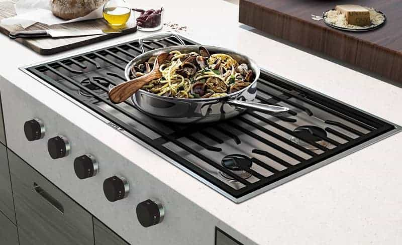 What is a downdraft cooktop?